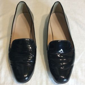 JCREW BLACK PATENT LEATHER FLATS/LOAFERS